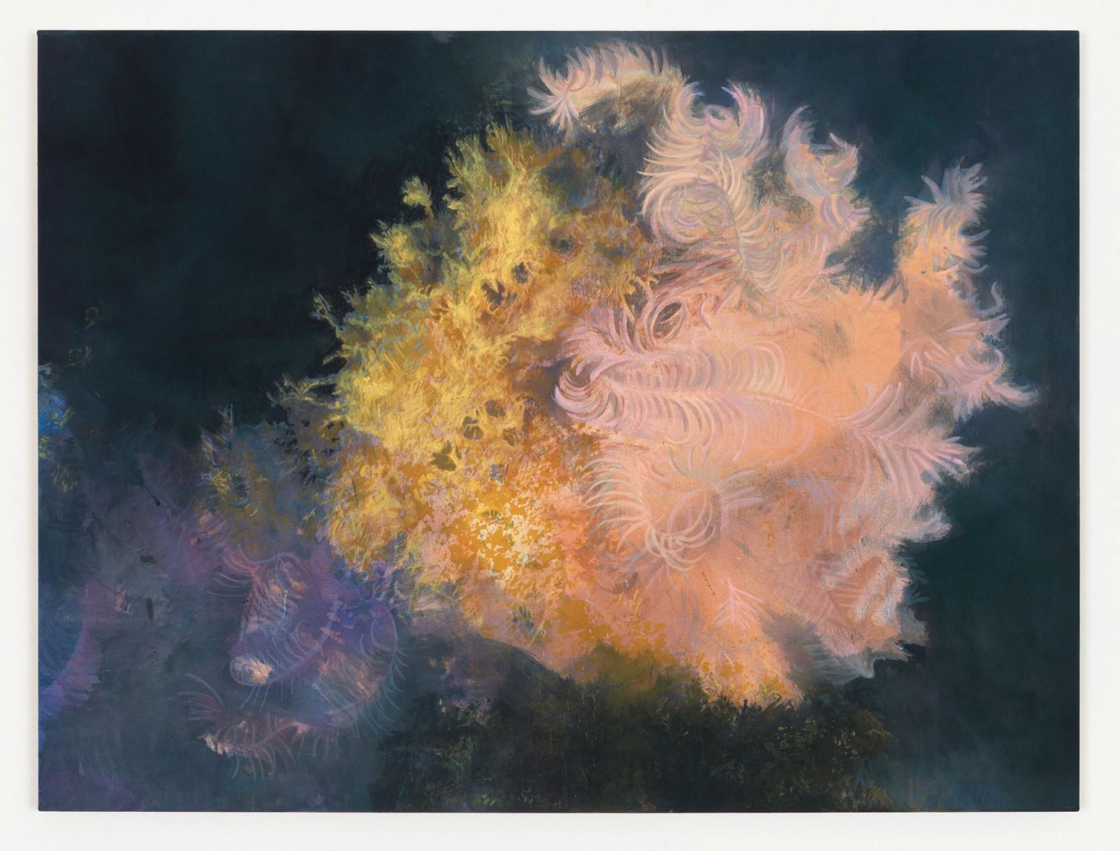 Kim Nekarda: untitled, 2015, vinyl color & body print on cotton, 90 x 120 cm, private collection, zurich
