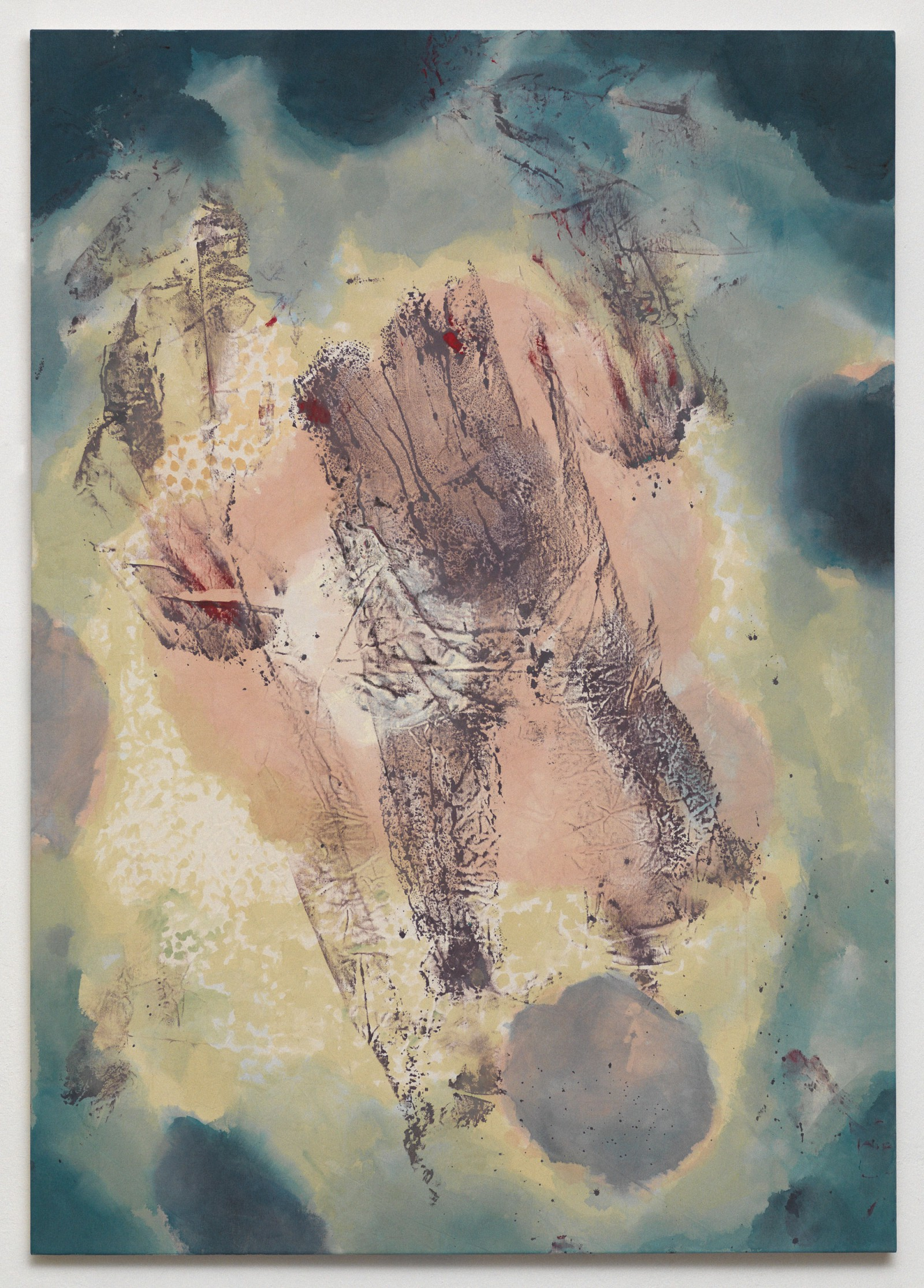 Kim Nekarda: el nino, 2012, vinyl color & body print on cotton, 170 x 120 cm
