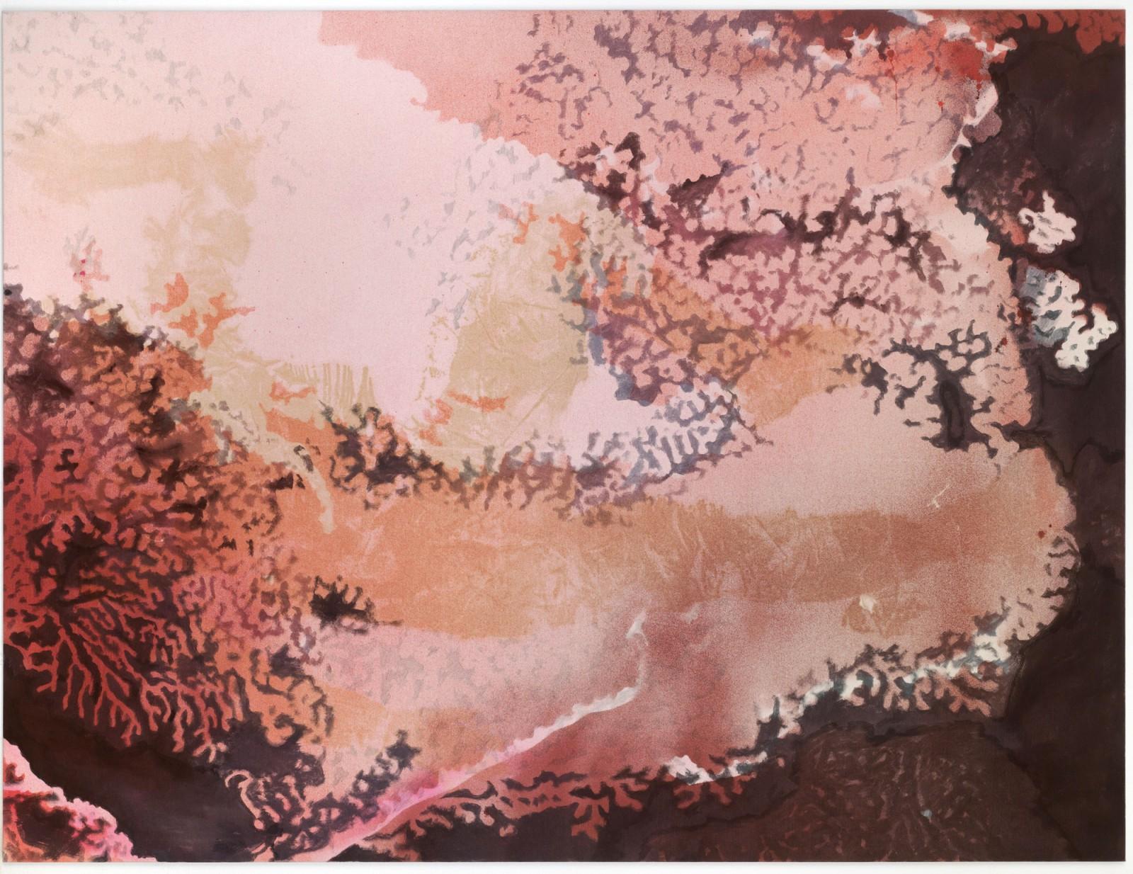 Kim Nekarda: pequod, 2011, vinyl color, poppy oil & body print on cotton, 150 x 200 cm