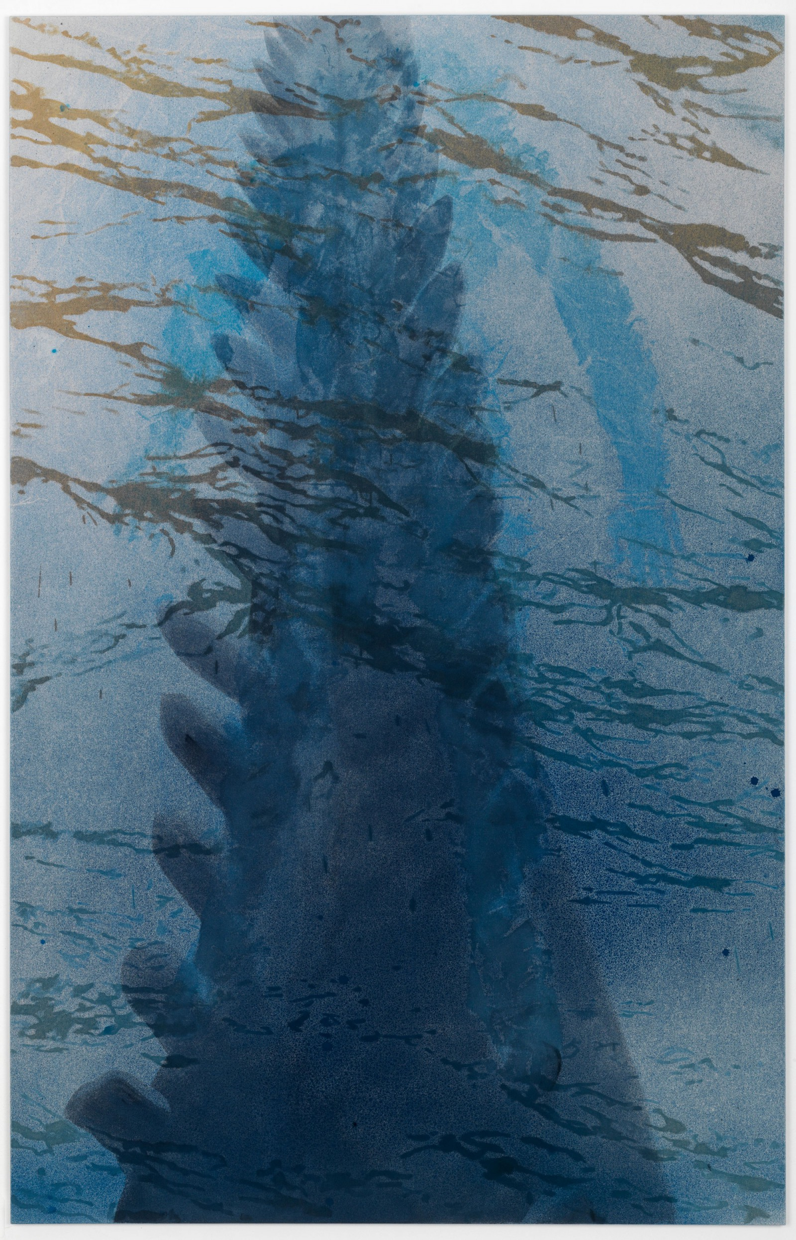 Kim Nekarda: ketos, 2010, vinyl color, poppy oil & body print on cotton, 210 x 140 cm, private collection, lingen