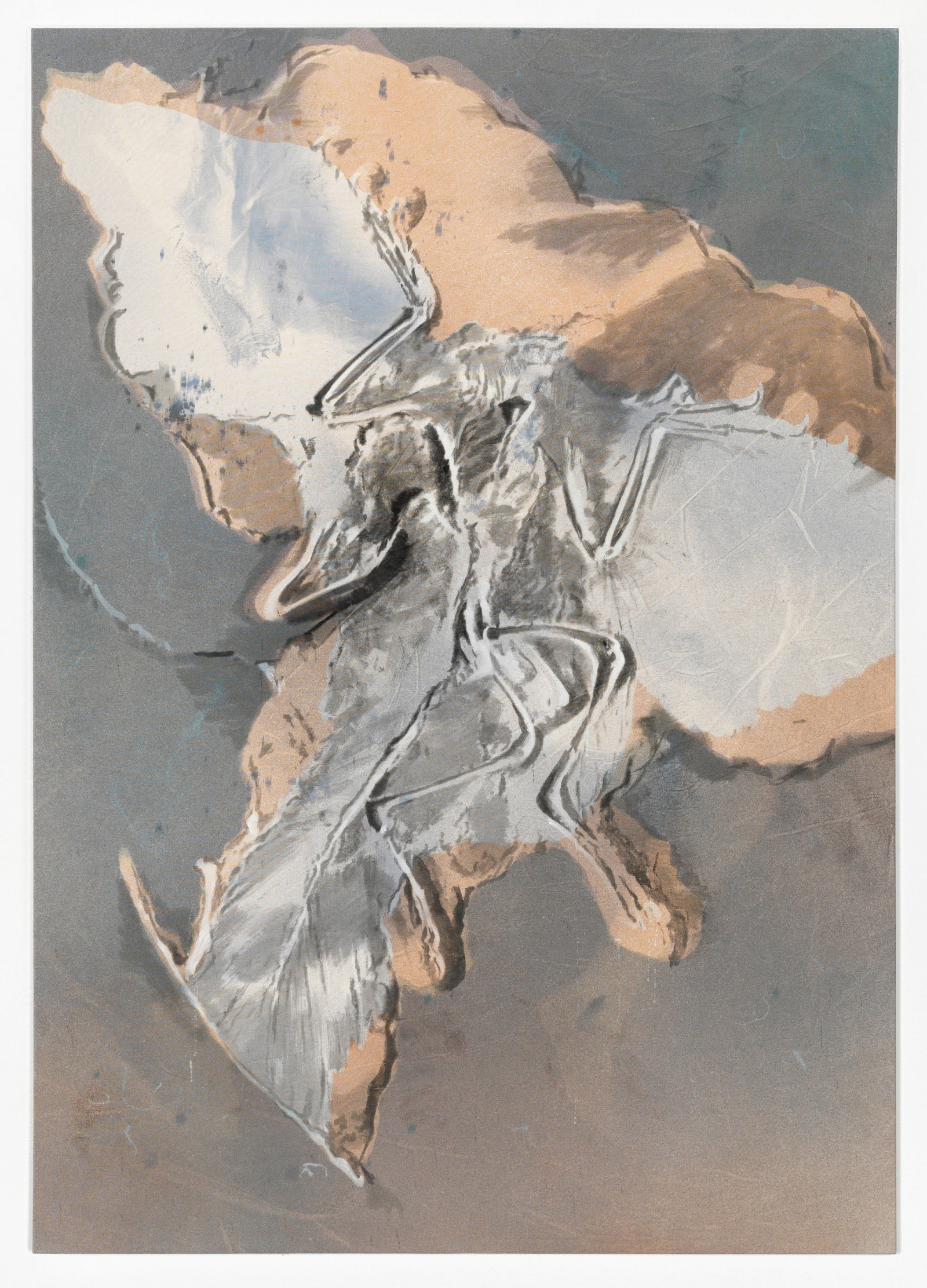 Kim Nekarda: untitled, 2011, vinyl color & body print on cotton, 200 x 140 cm, private collection, lingen