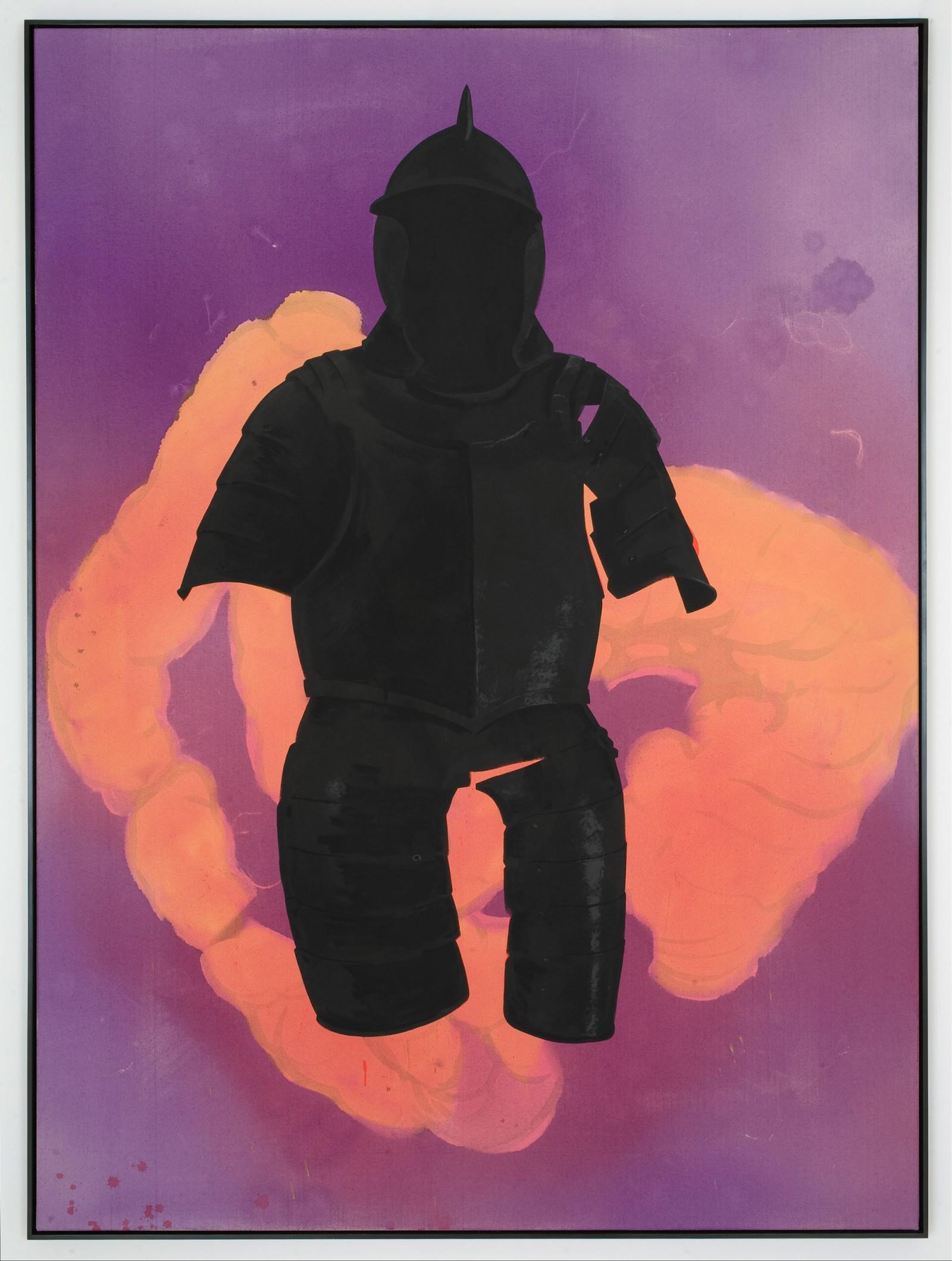 Kim Nekarda: untitled, 2008, vinyl color on cotton, framed, 190 x 140 cm, private collection, Hamburg