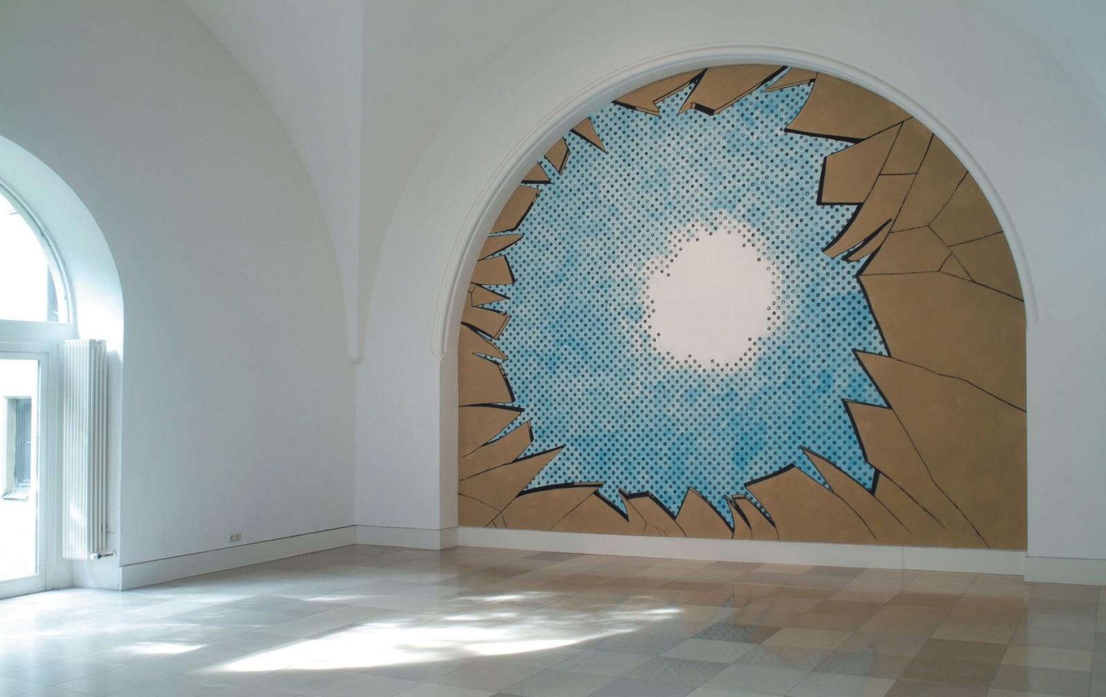 Kim Nekarda: Ephemeral Pleasure, 2004, Wall Painting, Galerie der Künstler, München, 500 x 600 cm