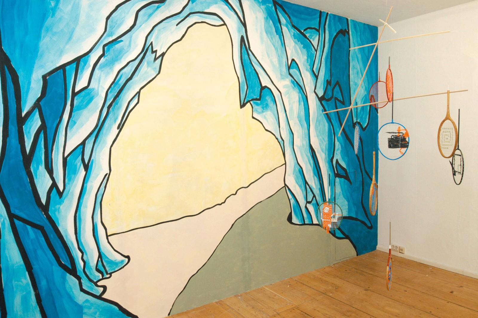 Kim Nekarda: Untitled, 2004, wall painting, Reuter, Tharandterstrasse 19, Dresden,Alexander Wolff, Mandla Reuter