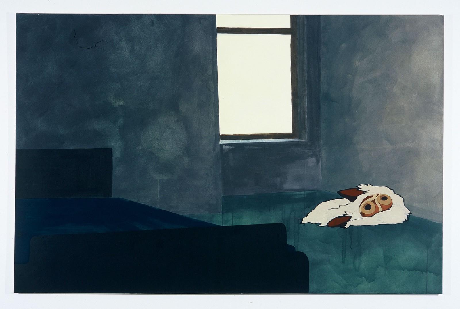 Kim Nekarda: prinzessin, 2003, vinyl color on cotton, 130 x 200 cm, bayerische staatsgemäldesammlung