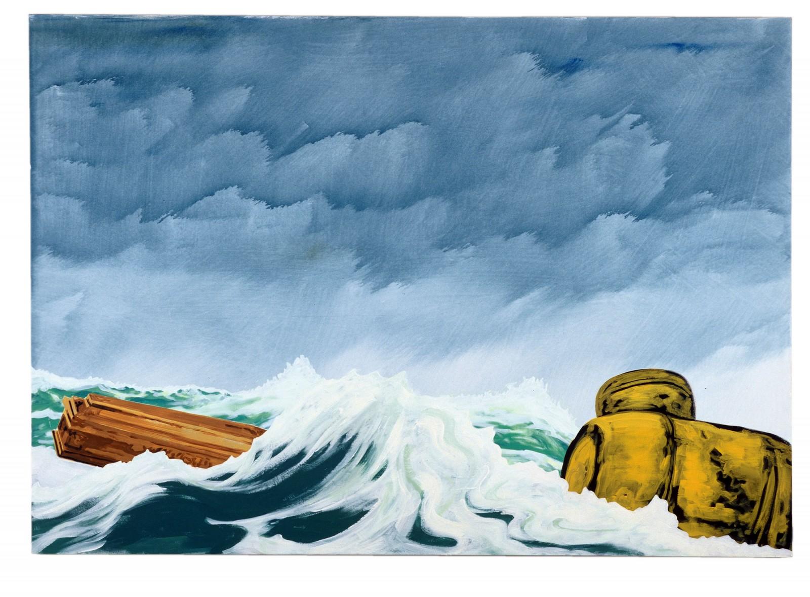 Kim Nekarda: untitled, 2001, vinyl color on cotton, 125 x 160 cm