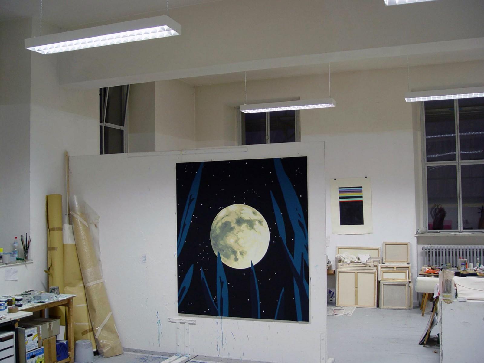 Kim Nekarda: Das Meer der Gefahren, 2002, Vinyl Color on Cotton, 190 x 170 cm, Kunstakademie München