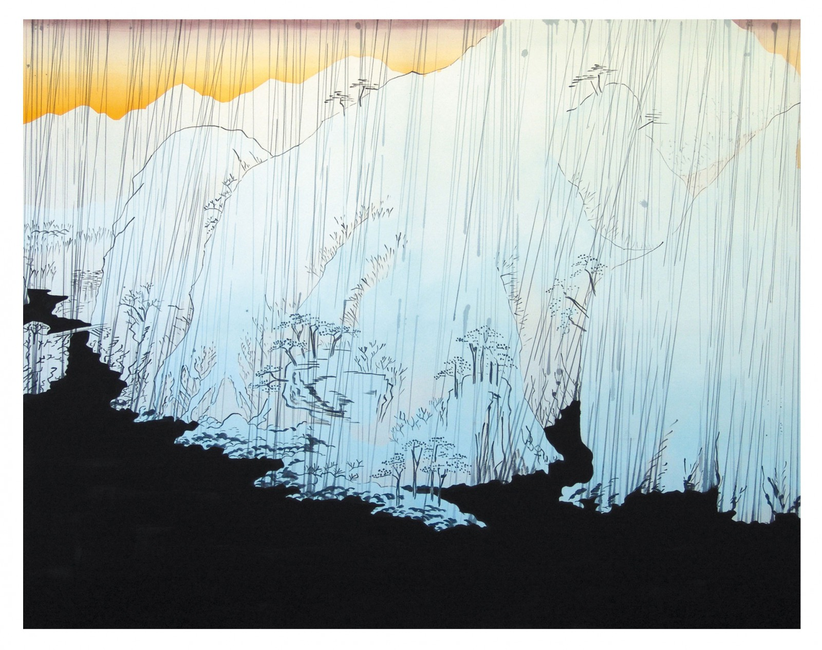 Kim Nekarda: Untitled, 2004, vinyl color on cotton, 160 x 200 cm