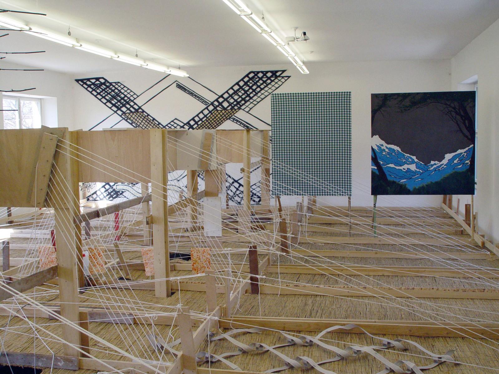 Kim Nekarda: The state of the upper floor, Panorama, 2003, Kunstverein München, Michael Beutler, Thomas Kratz, Michael Krebber