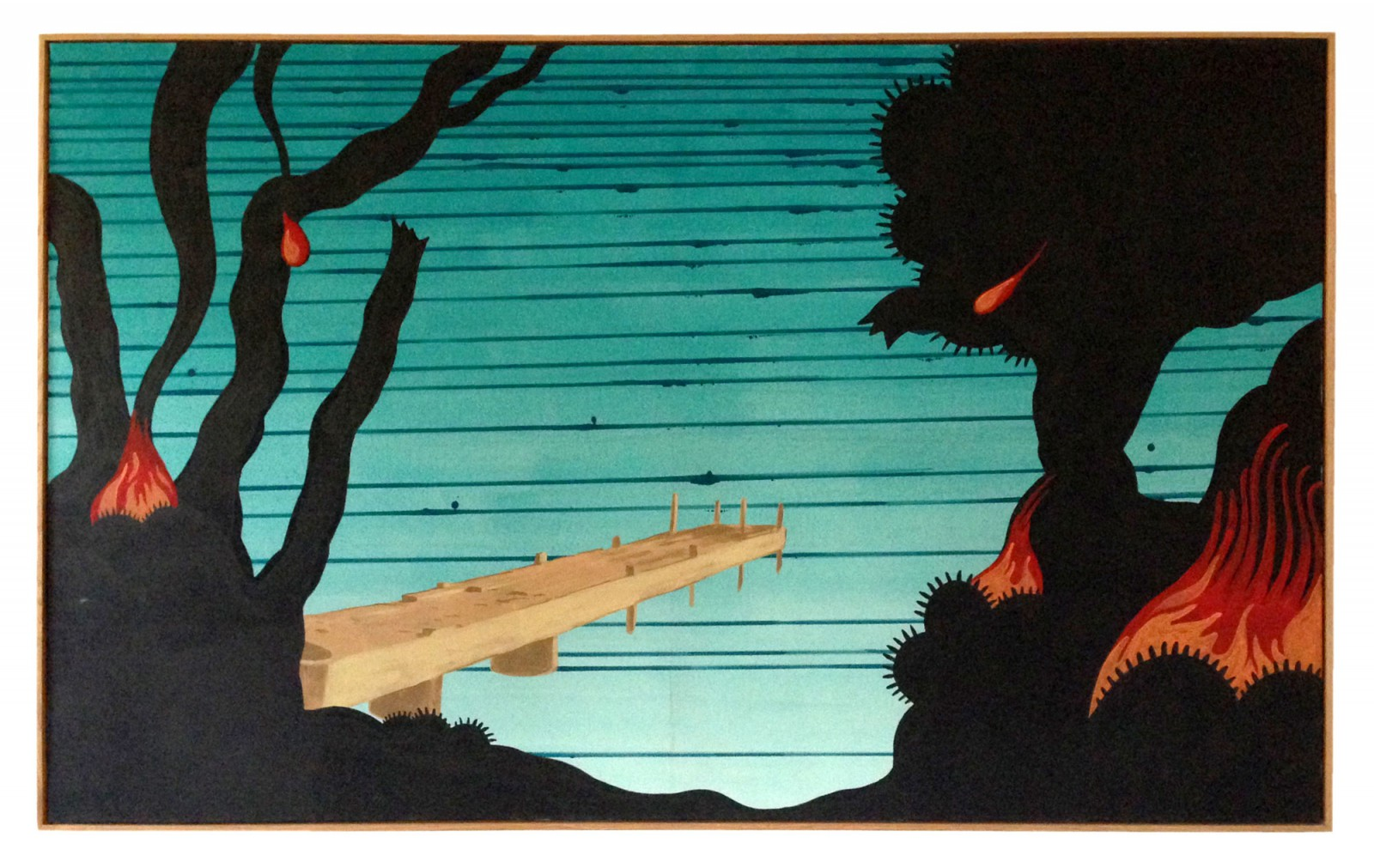 Kim Nekarda: Untitled, 2003, vinyl color on cotton, framed, 90 x 150 cm, private collection