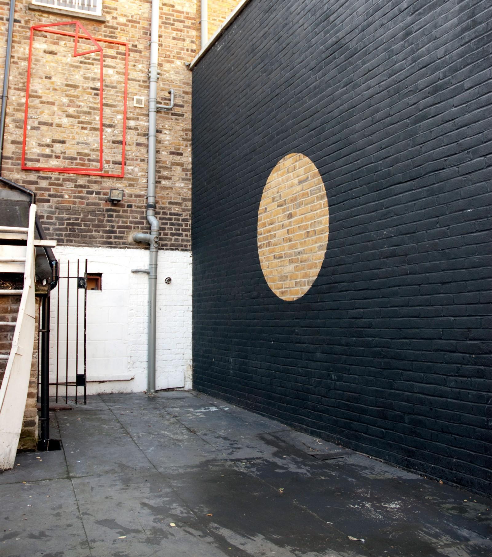 Kim Nekarda: Untitled, 2004, Wall Painting, Universal Outstrech, Flaca, London, 500 x 700 cm