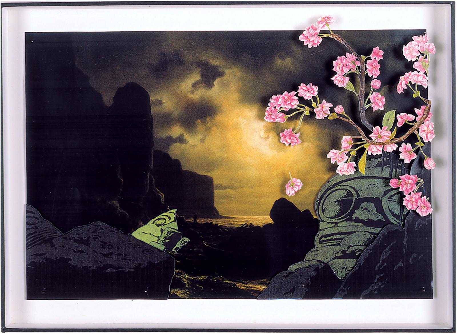 Kim Nekarda: Untitled, 2000, photocopy, postcard, box, 30 x 42 x 3 cm