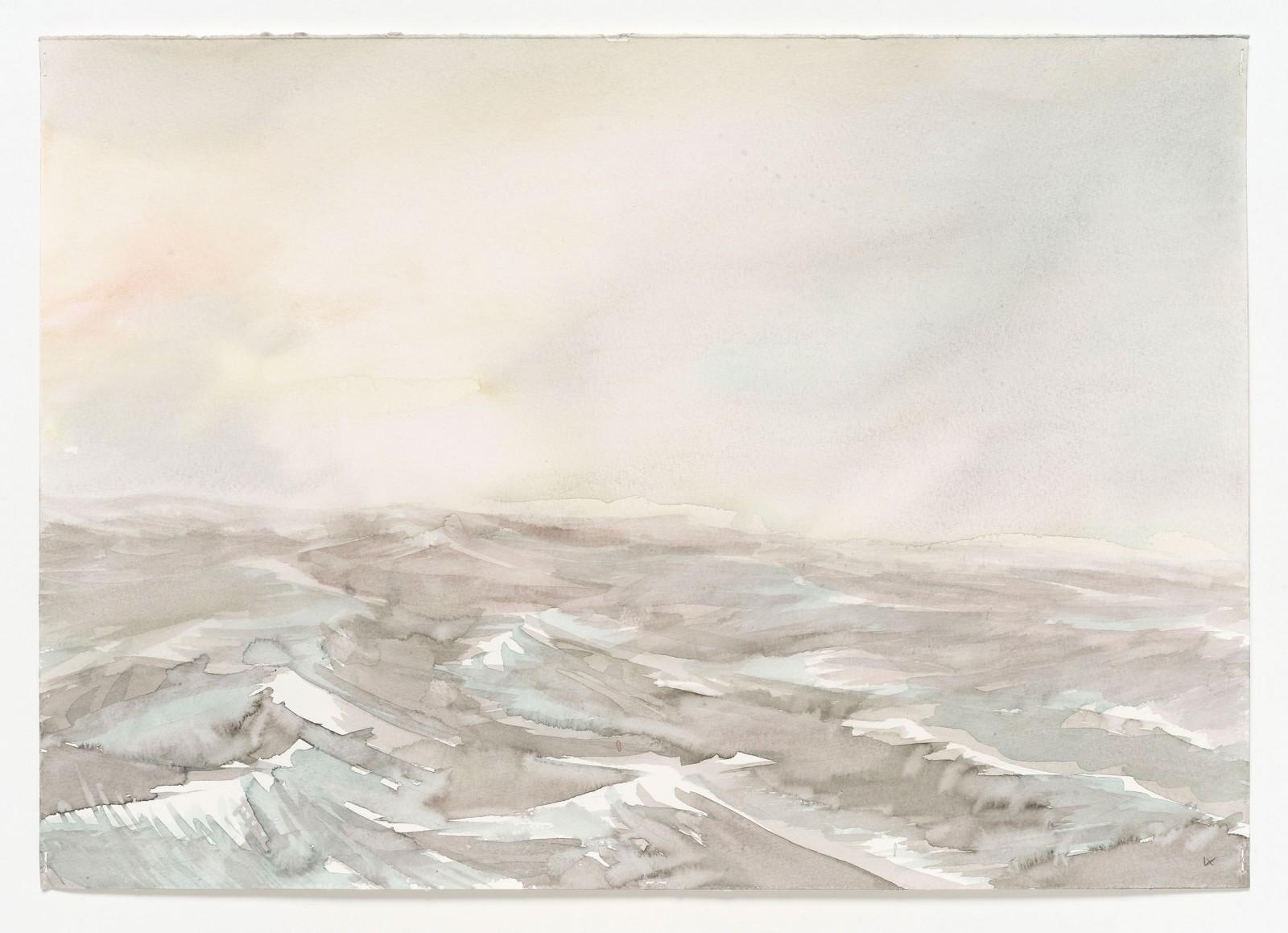 Kim Nekarda: fs heincke, tag ix , 2017, watercolour on paper, 39 x 56cm