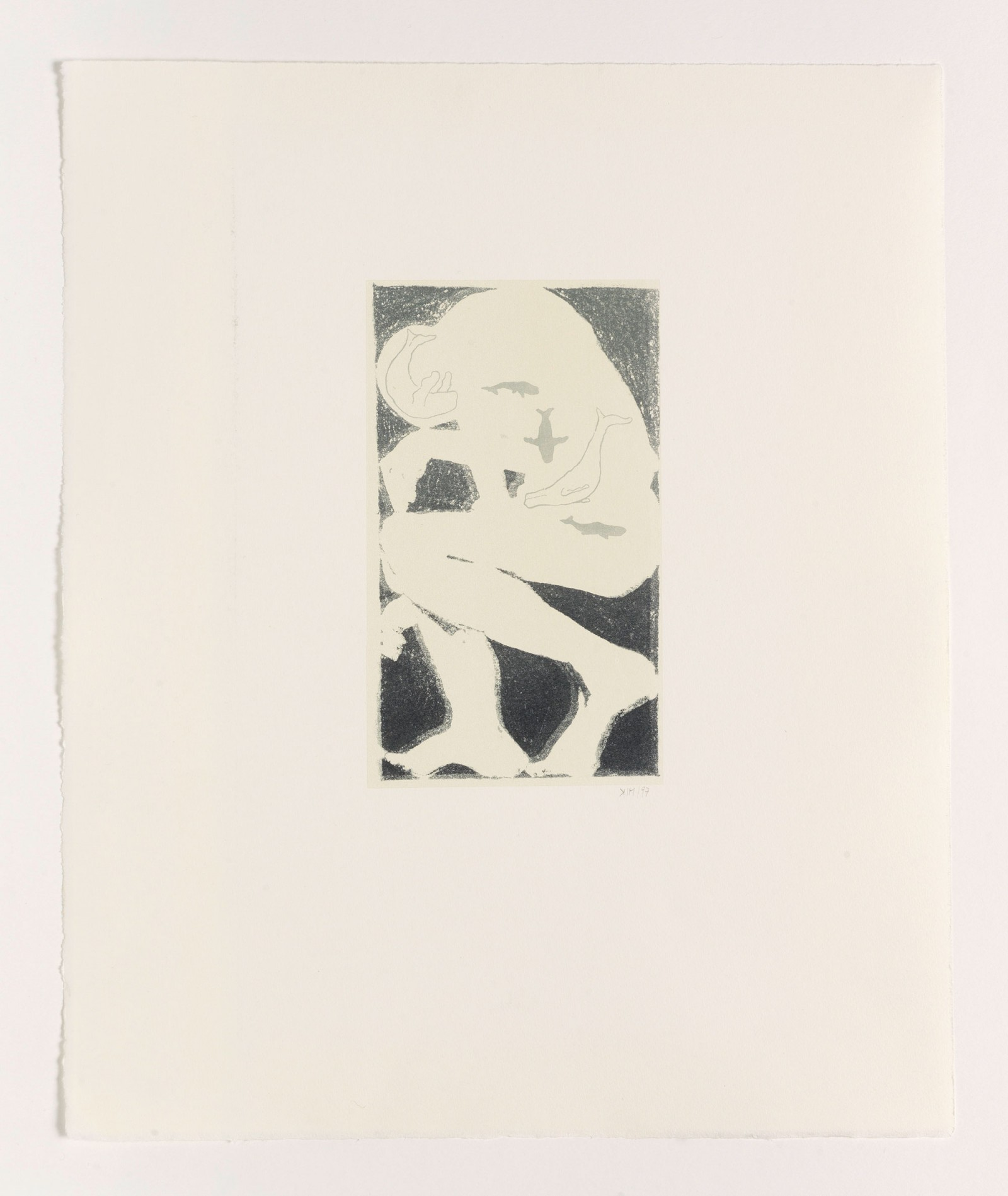 Kim Nekarda: untitled, 1997, lithography on paper, 38 x 32 cm