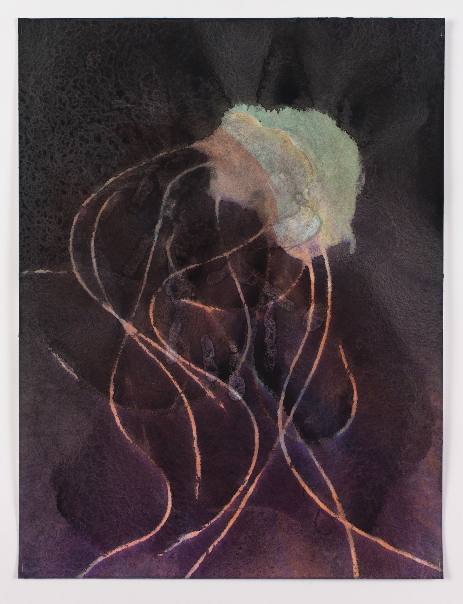 Kim Nekarda: untitled, 2015, body print, watercolour & ink on paper, 61 x 46 cm