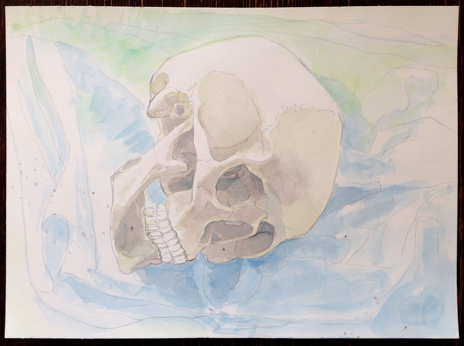 Kim Nekarda: untitled, 2018, watercolour on paper, 26 x 36 cm