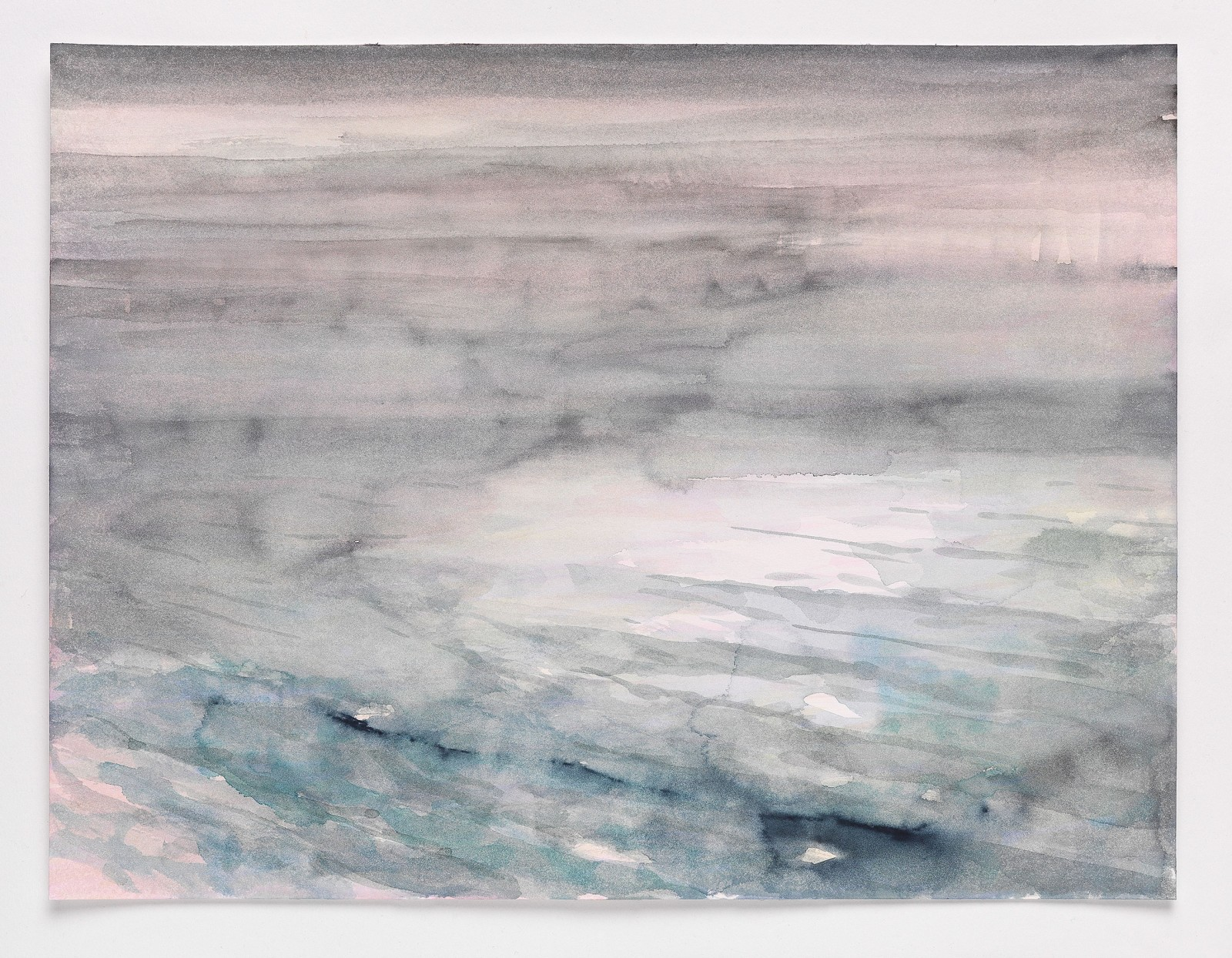 Kim Nekarda: tage am see V, 2014, watercolour on paper, 31 x 41cm, private collection wien