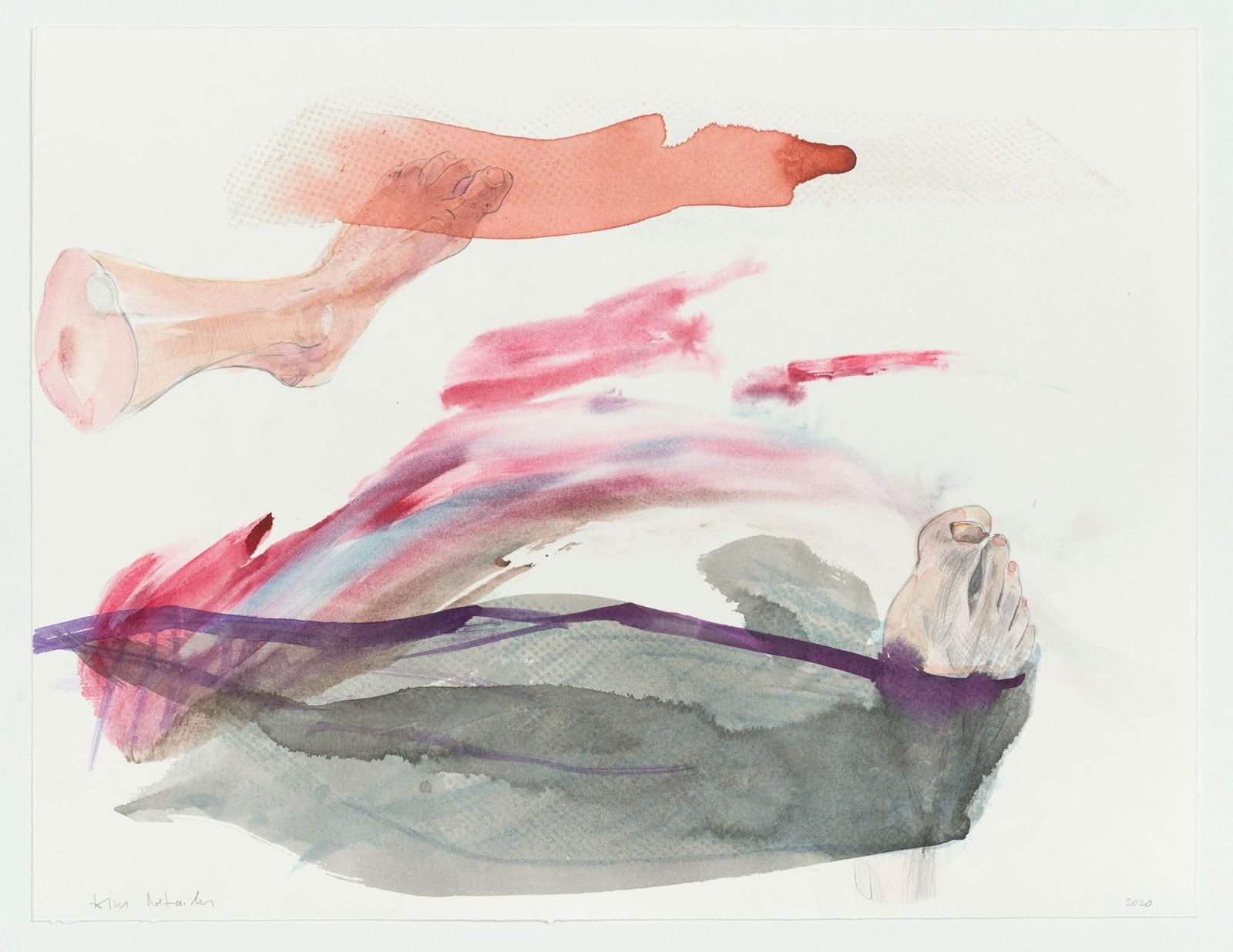 Kim Nekarda: untitled, 2020, watercolour, pencil & ink on paper, 42 x 54 cm