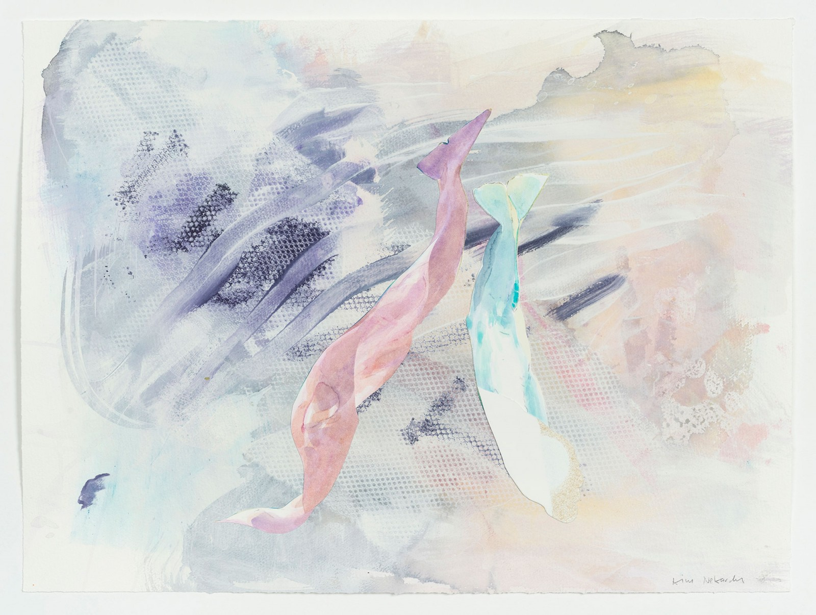 Kim Nekarda: untitled, 2020, watercolour, gouache & carbon on paper, 42,5 x 57 cm